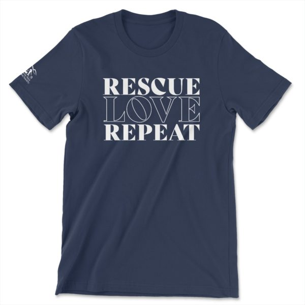 Rescue, Love, Repeat T-Shirt - Conway Area Humane Society
